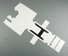 Bausatz Rahmenabdeckung Tamiya Actros 3-Achser für Tamiya Getriebe + Lenkservo