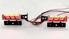 LED Rückleuchten New Style No.01 + Platine + Halter 1:14