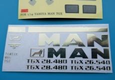 MAN TGX Armaturenbrett Aufkleber Set 1:14