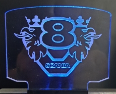 Leuchtschild groß Scania V8 + Greif + Beleuchtung