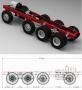 4-Achs Fahrgestell Schwerlast 8x4 532mm 1:14