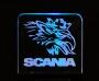 Acrylglas Scania + Beleuchtung  No. 02
