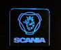 Gelasertes Acrylglas Scania + Beleuchtung  No. 01