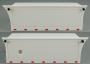 Scania 3-Achser Dänische Kisten inkl. Seitenbegrenzungsleuchten 1:14