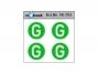 G Aufkleber geräuscharm grün/weiss 4 Stück