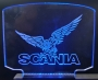 Leuchtschild groß Scania + Adler + Beleuchtung
